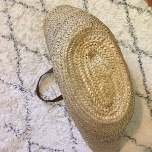 Vintage Bags - Vintage Straw Woven French Market Basket